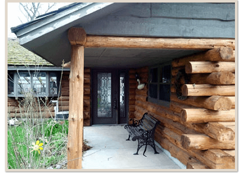 Log Home Restoration Before