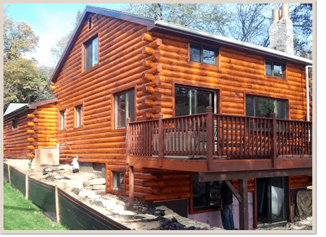 Log Home Siding After