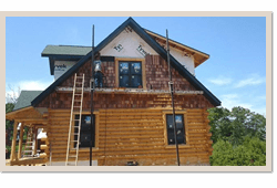 Log Cabin Repairs Wisconsin, Iowa, Minnesota, Michigan, Illinois, and the upper Midwest